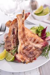 grilled lamb rib