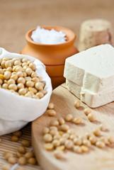 soy beans, tofu & nigari