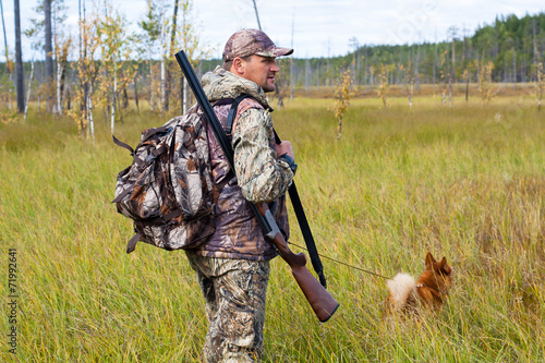hunting on the swamp - 71992641