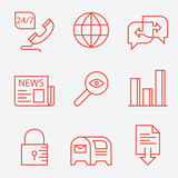 Thin line icons for web sites – modern flat design