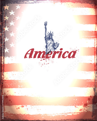 United States of America. Vector format