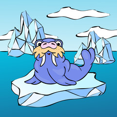walrus on the iceberg
