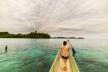 Canoeing among the Togian Islands