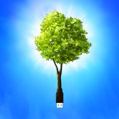 Usb stick as tree.
