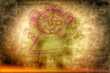 canvas print picture - weiblich lachende Personensilhouette...