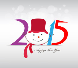 happy new year and merry christmas with snowman