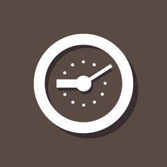 Clock Icon On Dark Background