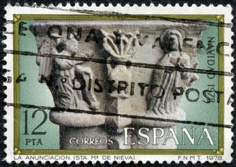 A stamp printed in Spain