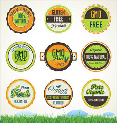 Organic food banners collection