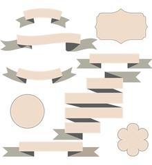 Set of ribbons, vector illustration.