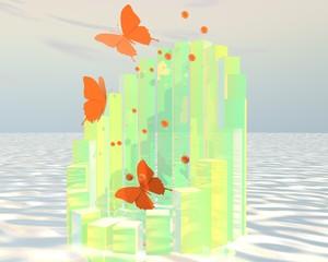 Water vlinders uit zee