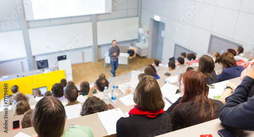 Lecture at university. - 71996461