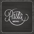 Menu pâtes pasta spaghetti restaurant