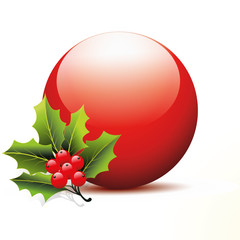 kugel,mistel,stechpalme,christbaumkugel,deko,advent,vektor,3d