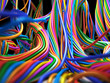 Colorful cables. Abstract Technology 3d illustration - 71997237