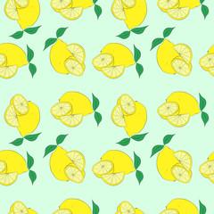 Lemon color pattern ,hand drawing