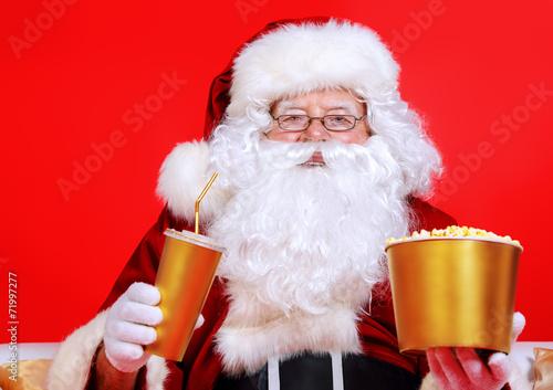 Leinwanddruck Bild popcorn santas