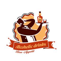 Alcohol. Vector format