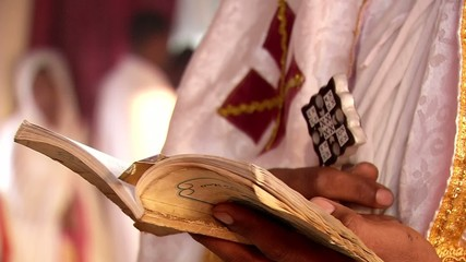 Prayer Eritrean priest