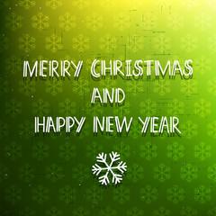Green holiday card