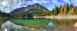 canvas print picture - Tiroler Bergsee