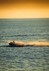 jet ski on the mystic backgrounds