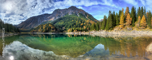 canvas print picture Tiroler Bergsee