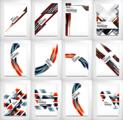 Flyers, Brochure Design Templates set, Layouts