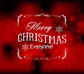 merry christmas light vector background