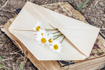 envelope with flower