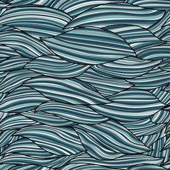 seamless waves pattern in ocean colors