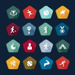 Symbols sport - Vectors set 8