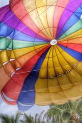 retro colorful parachute