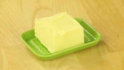 Slice butter in a green oiler