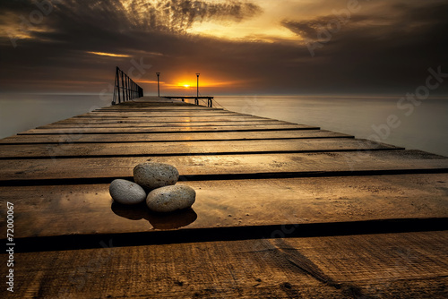 Foto op Plexiglas Zonsondergang Sea sunrise at the Black Sea coast near Varna, Bulgaria