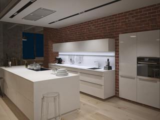 kitchen in a loft