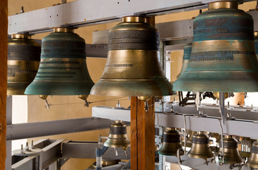 gold Church bell