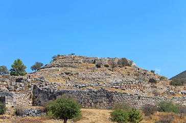 Mycenae, archaeological site in Peloponnese, Greece