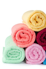 The combined  color towels