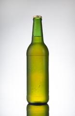 Beer bottle ready for brandin