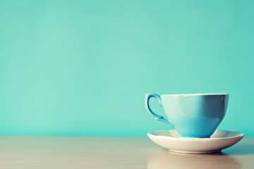Vintage blue tea cup