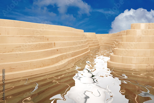 canvas print picture Abstraktes modernes Freibad