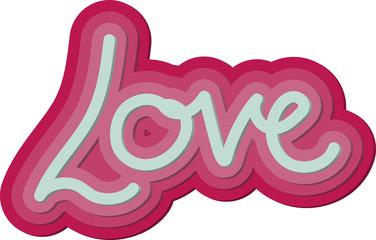 Valentine 3d Love Word