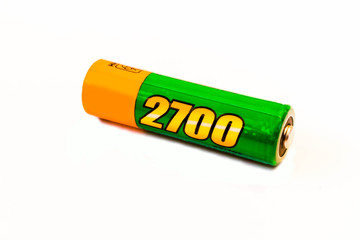 AAA battery on white background