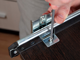 Fixing Drawers, Installing  track drawer slide rail
