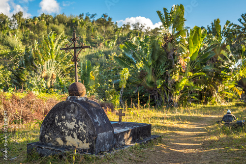 Papiers peints Cimetiere The cemetery of past pirates at St. Mary Island, Madagscar