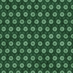 Green Flower Repeat Pattern Background