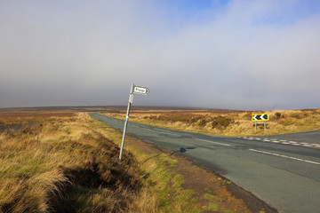 moorland sign post