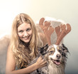 Merrry Christmas: Beautiful angel with her dog :)