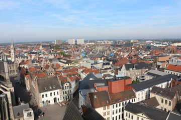 View of Ghent, Belgium from Belfry